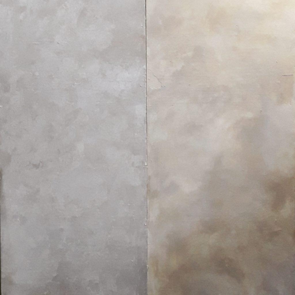 Patine sur mur